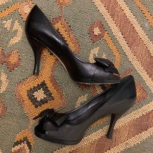 Via Spiga V-Marilla Leather Black Heel